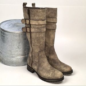 Matisse Roady Distressed Leather Boot Knee-hi 6.5